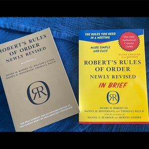 """Roberts Rules of Order & The """"In Brief"""" Version"""